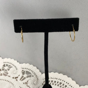 Vintage Accessories - Small 14 Karat solid yellow Gold Huggie Hoops